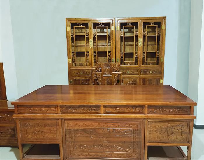 老榆木书写桌