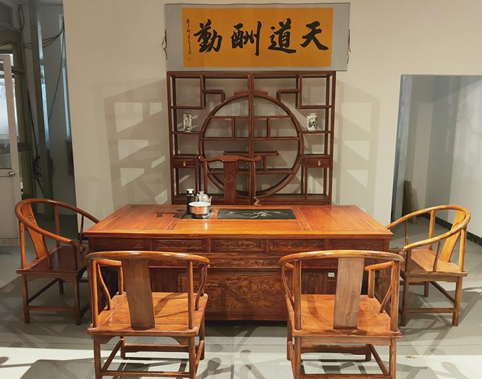 中式老榆木茶桌