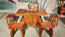 老榆木茶桌案例
