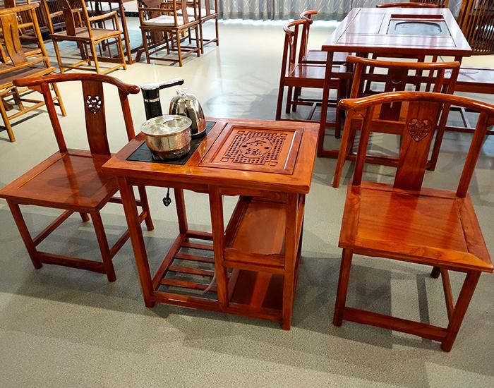 老榆木古典茶水台