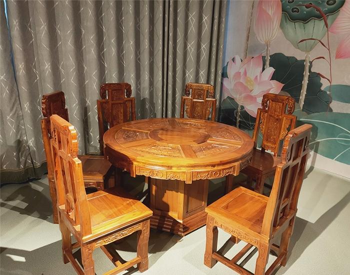 邯郸古典老榆木餐桌