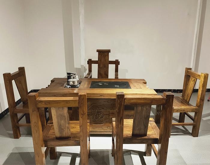 家用老榆木茶桌
