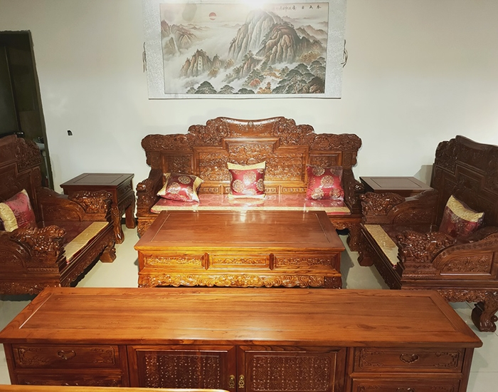 中式老榆木沙发